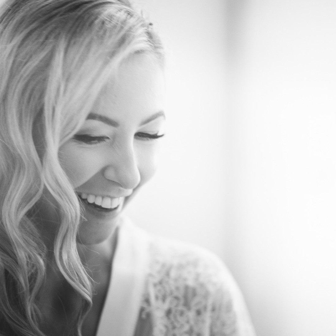 Jess getting ready for her beautiful autumn wedding at Cripps Barn.